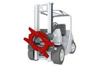 Tablier rotatif chariot élévateur accessoire