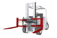 Positionneur écarteur de fourches chariot élévateur accessoire